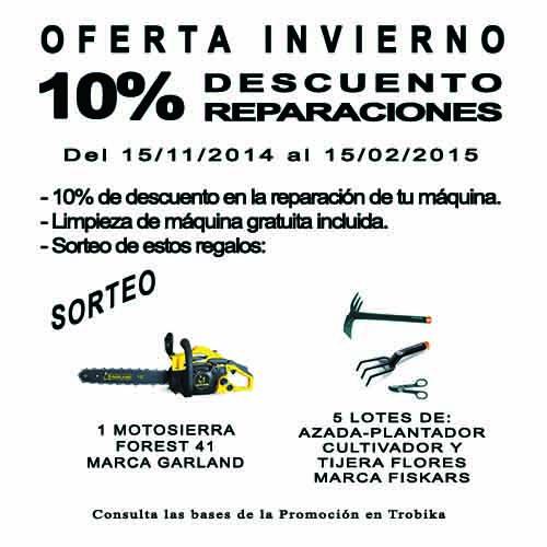 SORTEO Y 10% DTO REPARACIONES
